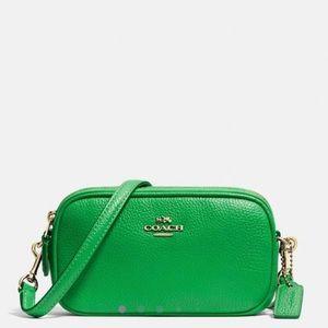 Green Coach Cross-Body Bag